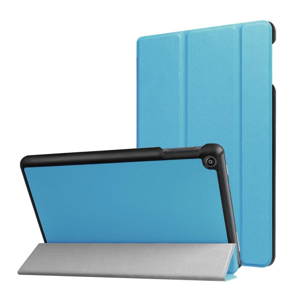 Bilde av Amazon Fire Hd 8 (2017) Tri-fold Litchi Texture Pu Leather Flip Case - Baby Blue