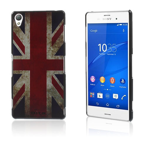 Persson (Vintage UK Flagg) Sony Xperia Z3 Hard Deksel