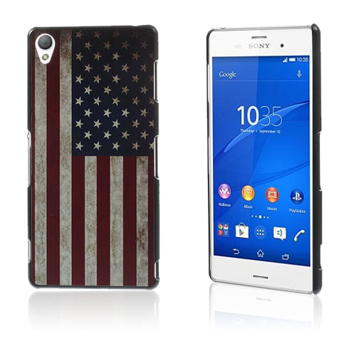 Persson (Vintage USA Flagg) Sony Xperia Z3 Hard Deksel