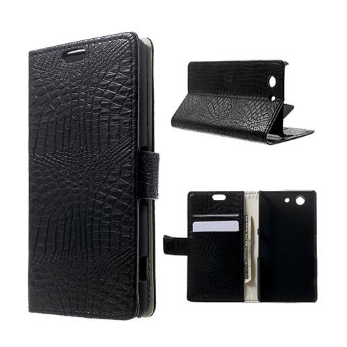 Marx Skin Sony Xperia Z3 Compact Lær Flipp Etui - Sort