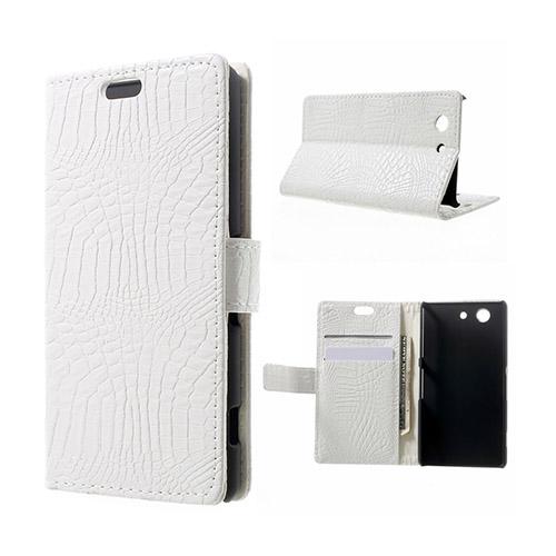 Marx Skin Sony Xperia Z3 Compact Lær Flipp Etui - Hvit