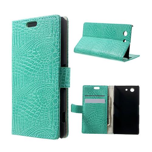 Marx Skin Sony Xperia Z3 Compact Lær Flipp Etui - Turkis