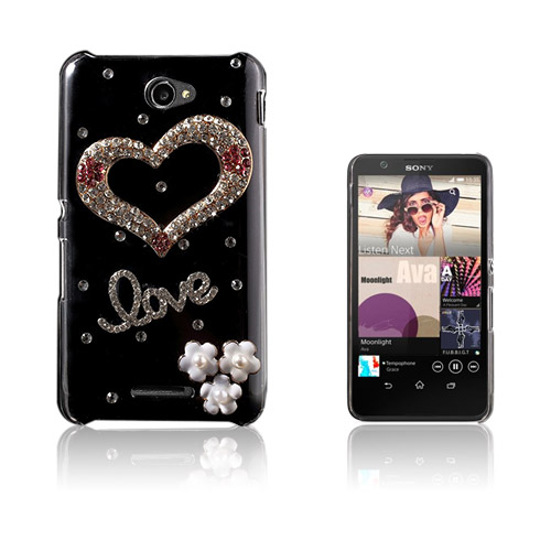 Shine Sony Xperia E4 Hard Deksler - Diamond Hjerte