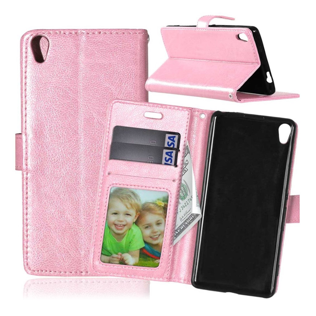 Sony Xperia XA horse PU leather flip case - Pink