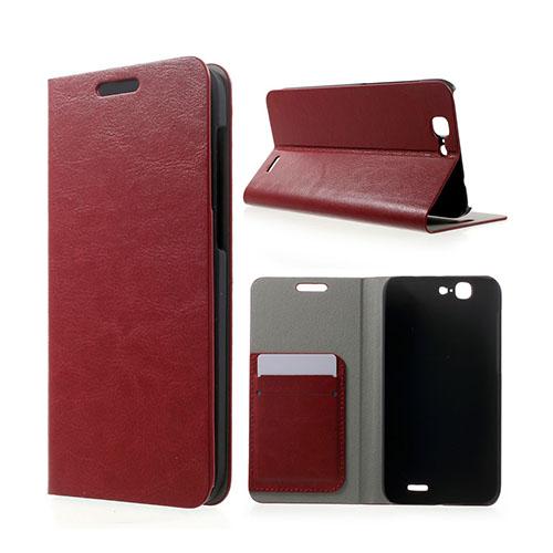 Mankell Huawei Ascend G7 Lær Flipp Etui - Rød