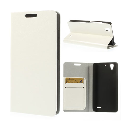Mankell Huawei Ascend G630 Lær Flipp Etui - Hvit