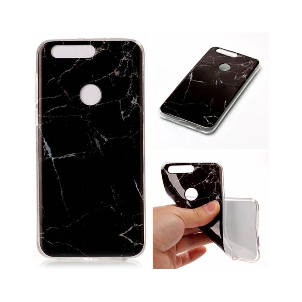 Huawei Honor 8 IMB marble pattern TPU case - Black