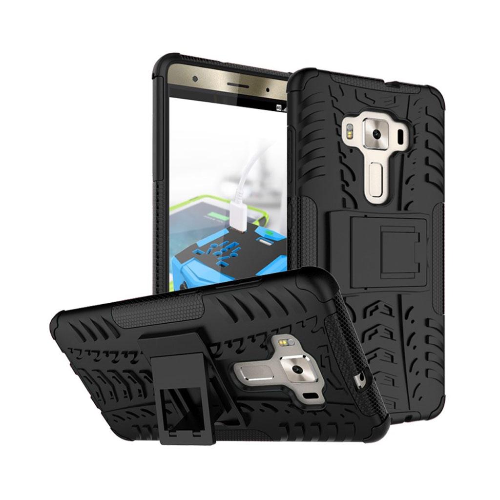 Bilde av Asus Zenfone 3 Deluxe Hybriddeksel M/ Anti-gli Tekstur - Svart