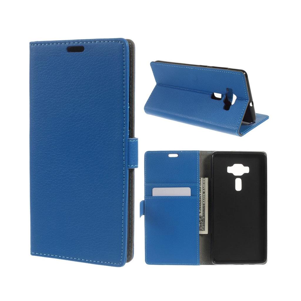 Bilde av Asus Zenfone 3 Deluxe Lommeboketui M/ Litchi Tekstur - Blå