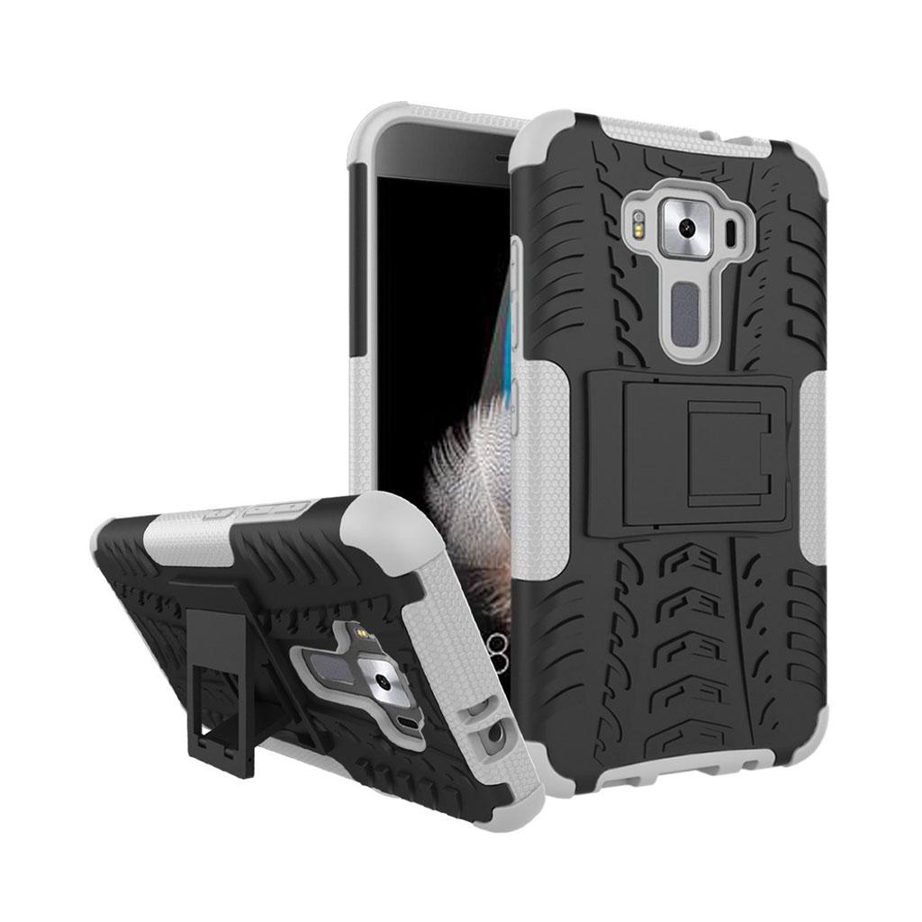 Bilde av Asus Zenfone 3 Hybriddeksel M/ Anti-gli Tekstur Og Kickstand - Hvit