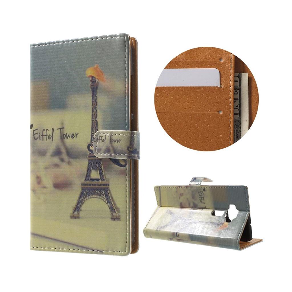 Bilde av Asus Zenfone 3 Lommeboketui Av Lær M/ Motiv - Eiffeltårnet