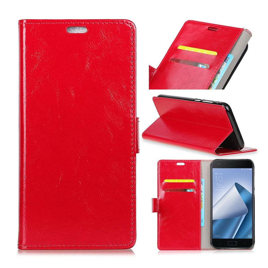 Bilde av Asus Zenfone 4 Pro (zs551kl) Etui Laget Av Kunstlær Og Silikon - Rødt