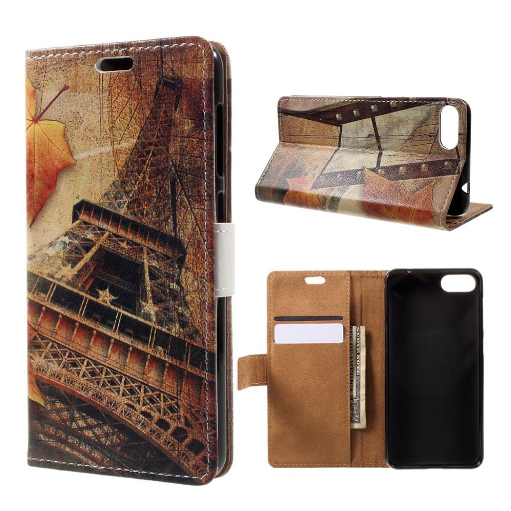Bilde av Asus Zenfone 4 Max 5.2 (zc520kl) Etui Laget Av Kunstlær Og Silikon - Eiffel Tårn