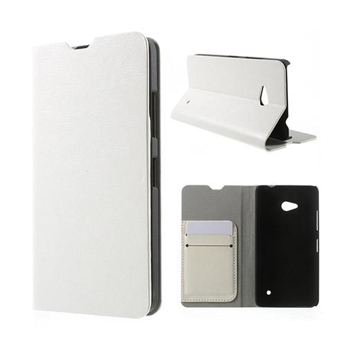 Amdrup Microsoft Lumia 640 Lær Case med Kortholder - Hvit