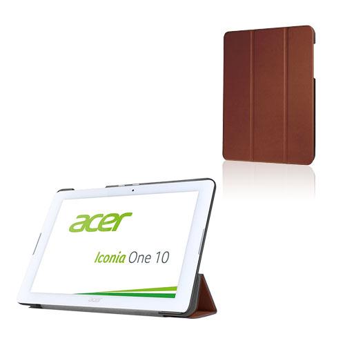 Bilde av Tri-fold Lær Etui For Acer Iconia One 10 B3-a20 - Brun