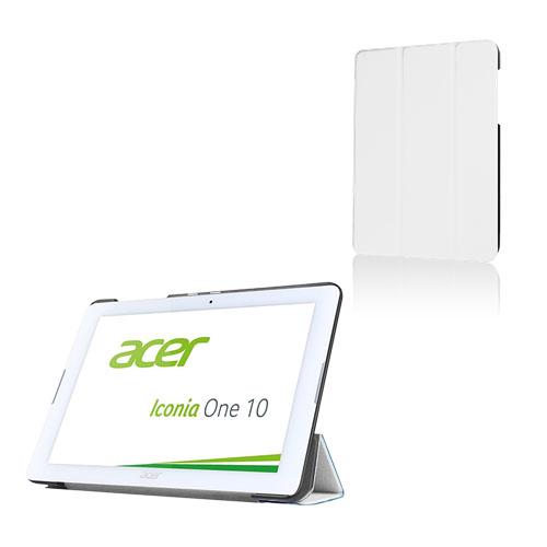 Bilde av Tri-fold Lær Etui For Acer Iconia One 10 B3-a20 - Hvit