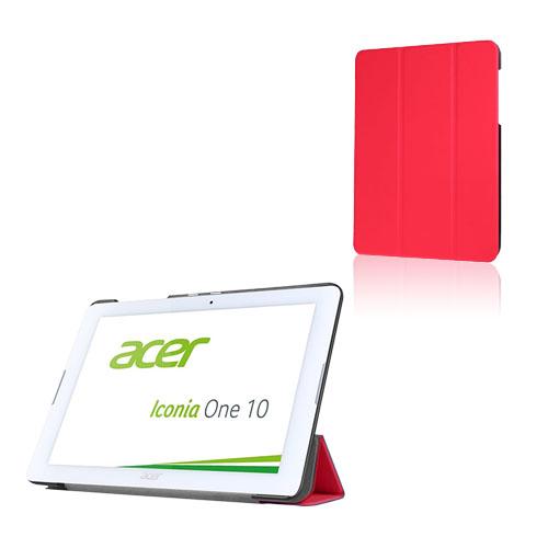 Bilde av Tri-fold Lær Etui For Acer Iconia One 10 B3-a20 - Rød