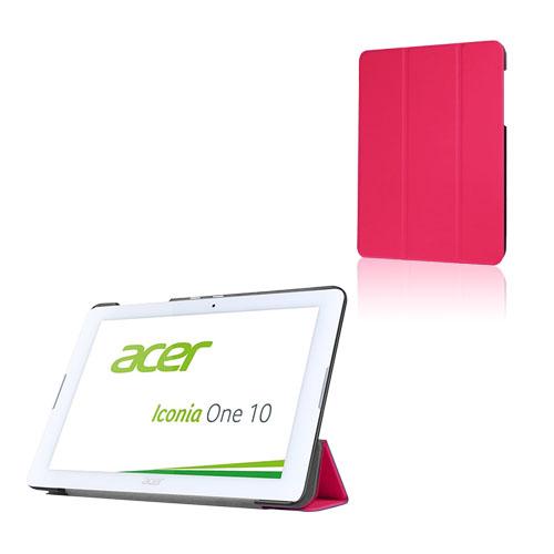 Bilde av Tri-fold Lær Etui For Acer Iconia One 10 B3-a20 - Varm Rosa