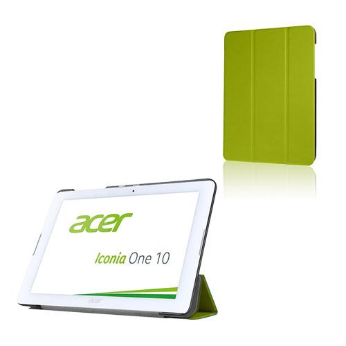 Bilde av Tri-fold Lær Etui For Acer Iconia One 10 B3-a20 - Grønn