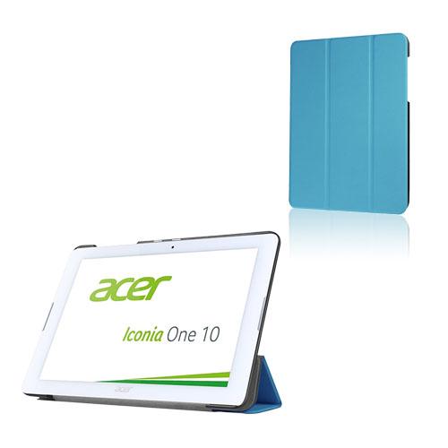 Bilde av Tri-fold Lær Etui For Acer Iconia One 10 B3-a20 - Lyse Blå