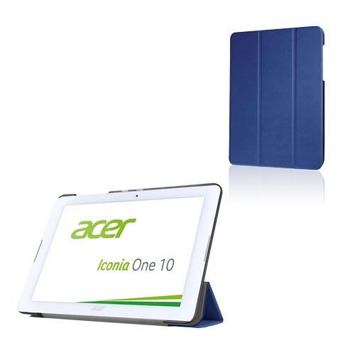 Bilde av Tri-fold Lær Etui For Acer Iconia One 10 B3-a20 - Mørke Blå
