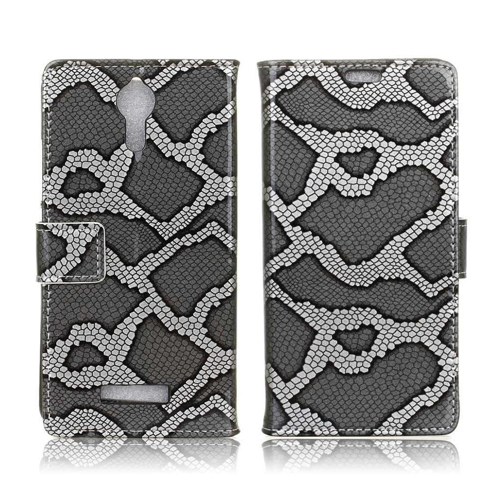Bilde av Acer Liquid Zest Plus Lommeboketui Med Slangeskinnsmotiv - Sølv