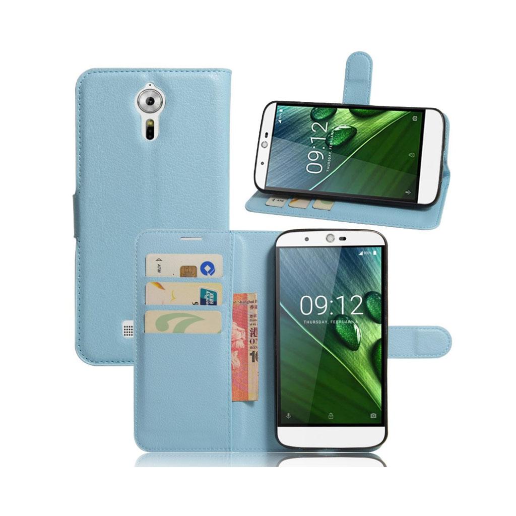 Bilde av Acer Liquid Zest Plus Lommeboketui Av Lær M. Litchi Tekstur - Blå