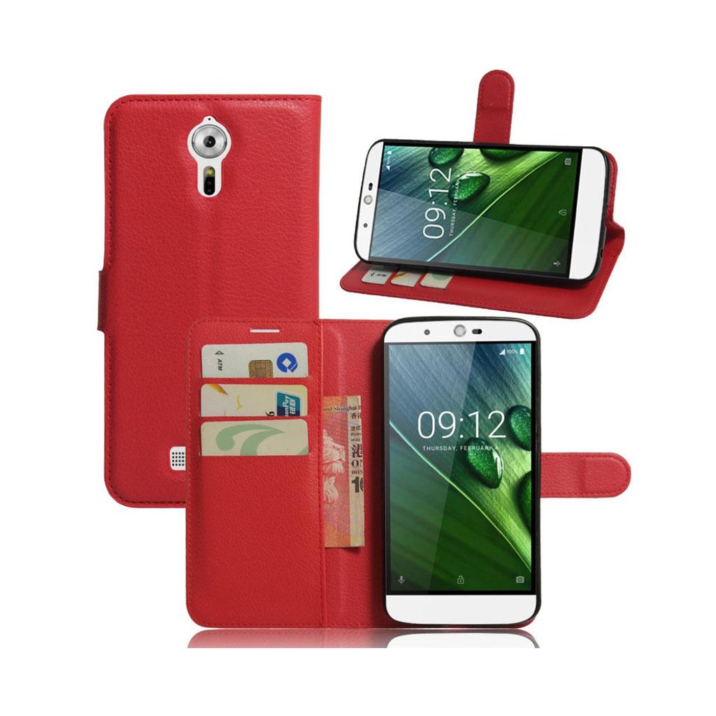 Bilde av Acer Liquid Zest Plus Lommeboketui Av Lær M. Litchi Tekstur - Rød