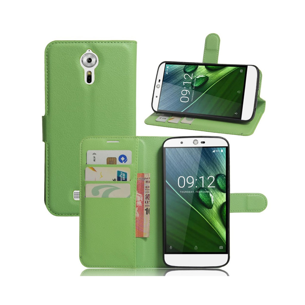 Bilde av Acer Liquid Zest Plus Lommeboketui Av Lær M. Litchi Tekstur - Grønn
