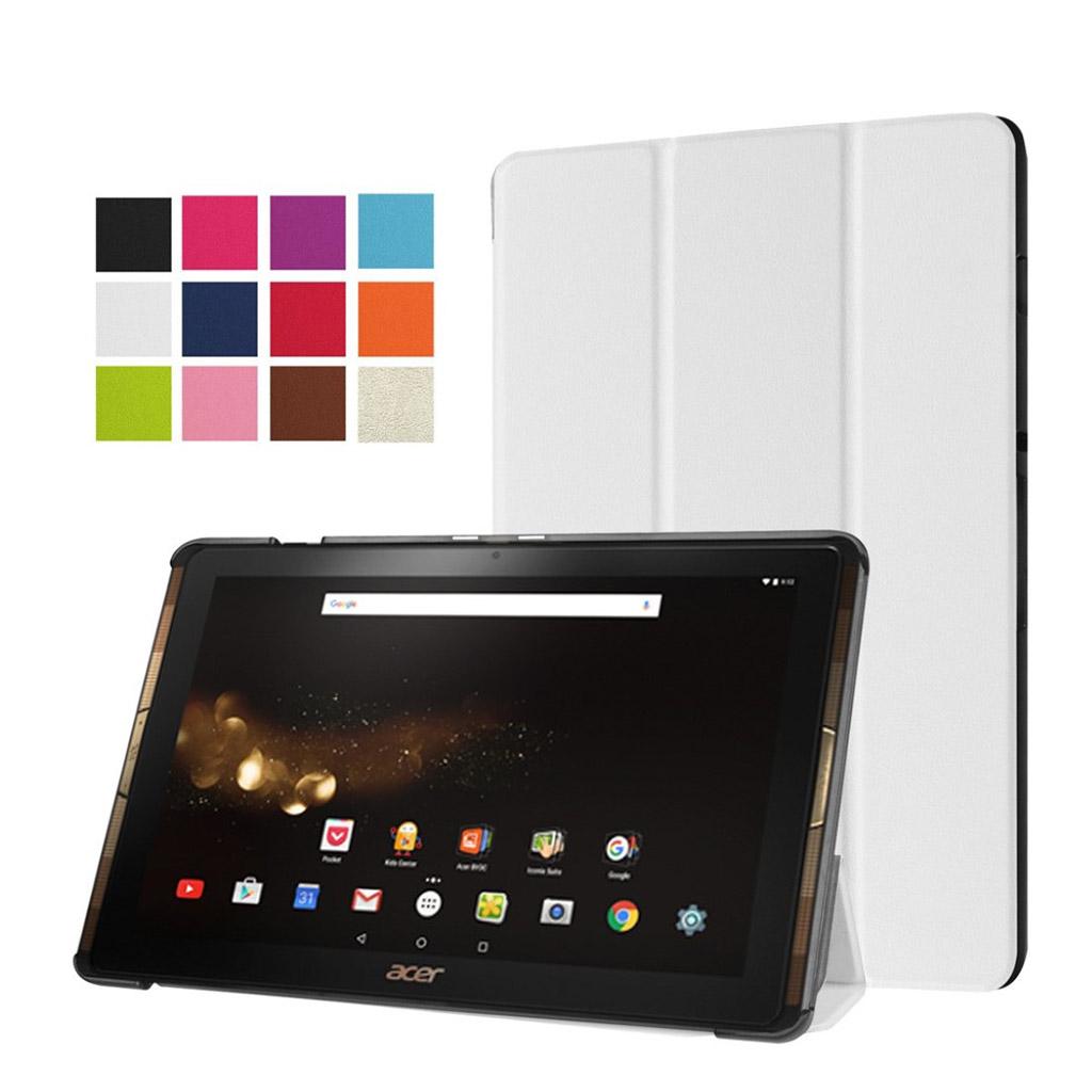 Bilde av Acer Iconia Tab 10 A3-a40 Tri-fold Pu Leather Flip Case - White