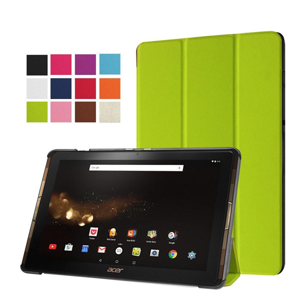 Bilde av Acer Iconia Tab 10 A3-a40 Tri-fold Pu Leather Flip Case - Green