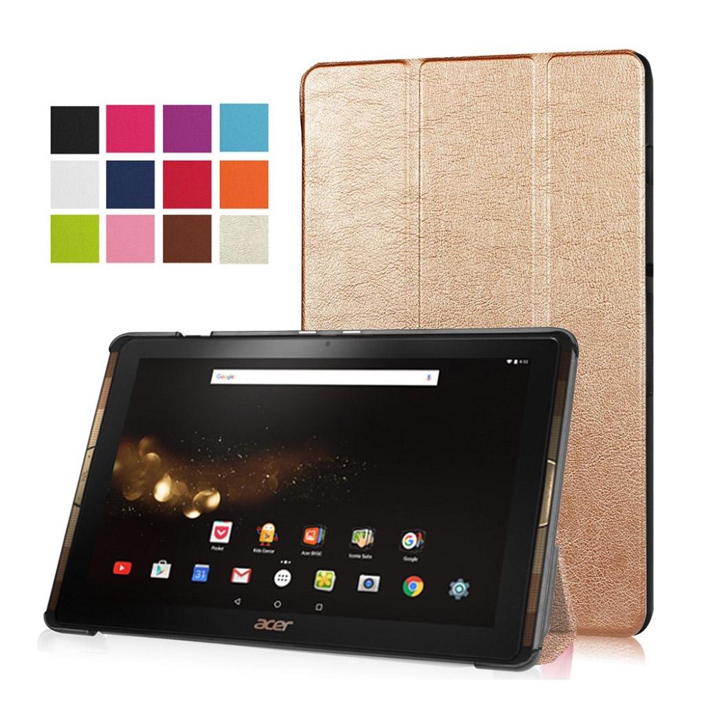 Bilde av Acer Iconia Tab 10 A3-a40 Tri-fold Pu Leather Flip Case - Champagne