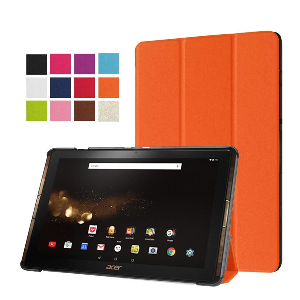 Bilde av Acer Iconia Tab 10 A3-a40 Tri-fold Pu Leather Flip Case - Orange