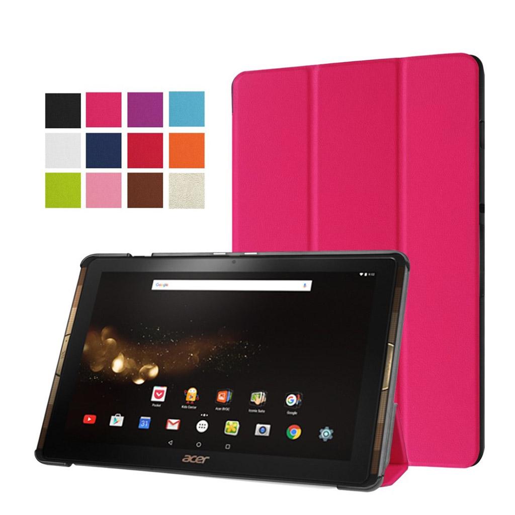 Bilde av Acer Iconia Tab 10 A3-a40 Tri-fold Pu Leather Flip Case - Rose