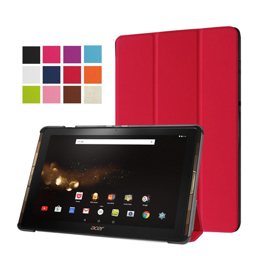 Bilde av Acer Iconia Tab 10 A3-a40 Tri-fold Pu Leather Flip Case - Red