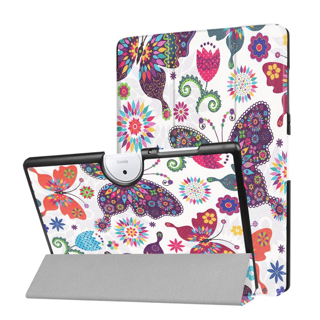 Bilde av Acer Iconia Tab 10 B3-a40 Pattern Tri-fold Pu Leather Flip Case - Colorful Butterfly