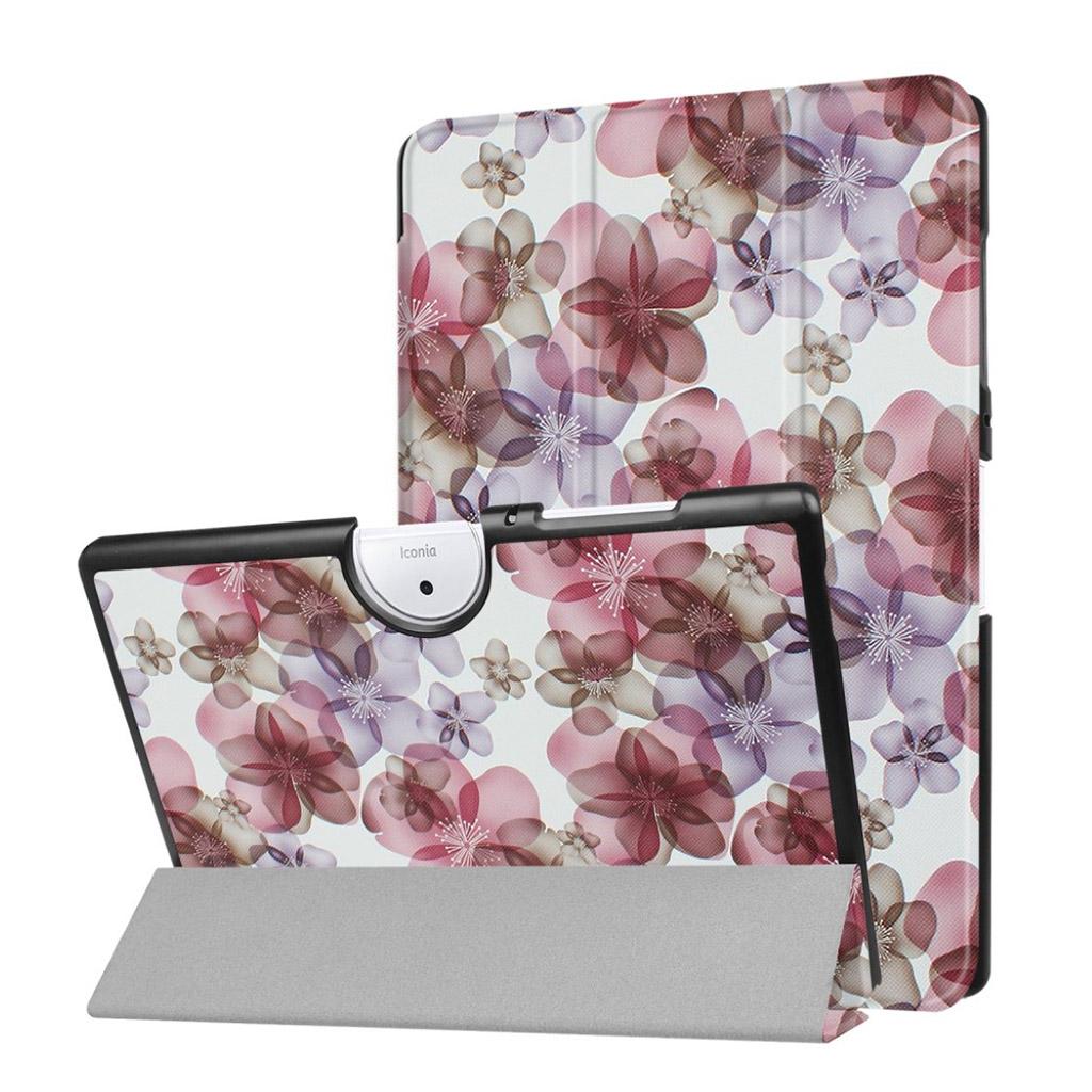 Bilde av Acer Iconia Tab 10 B3-a40 Mønster Tri-fold Pu Lær Flip Etui - Vakre Blomster