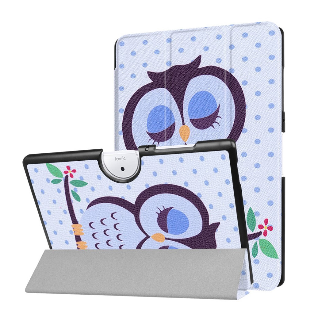 Bilde av Acer Iconia Tab 10 B3-a40 Pattern Tri-fold Pu Leather Flip Case - Owl Napping On Branch