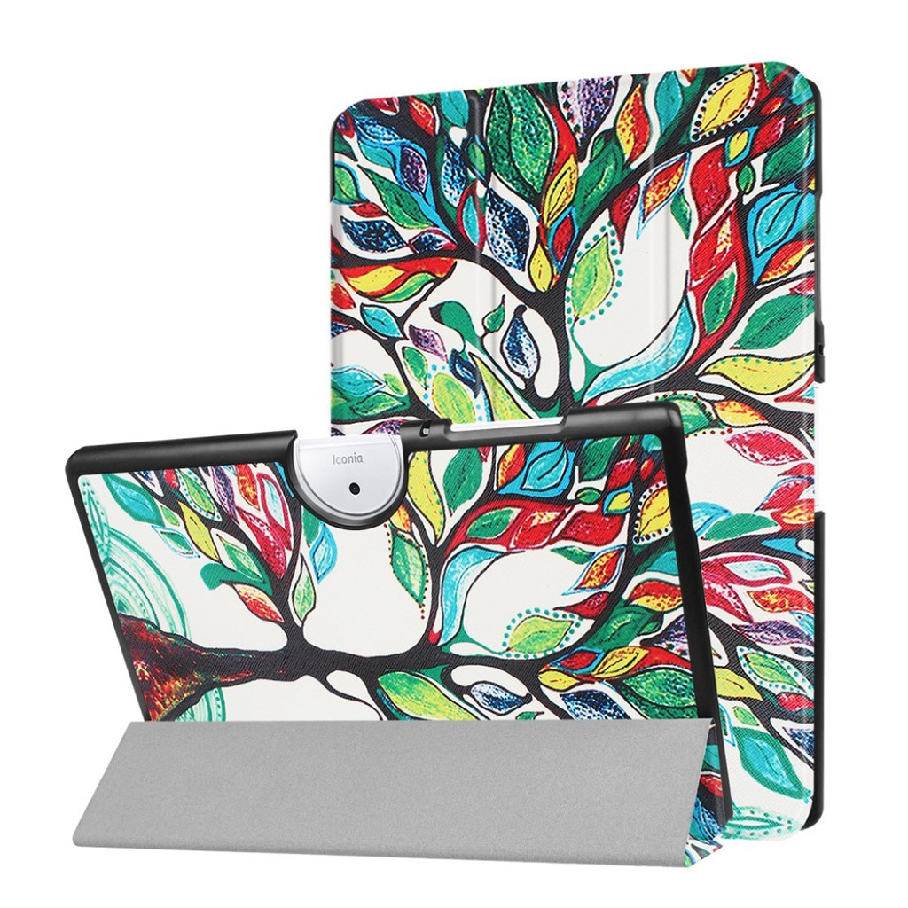Bilde av Acer Iconia Tab 10 B3-a40 Pattern Tri-fold Pu Leather Flip Case - Colored Tree Painting