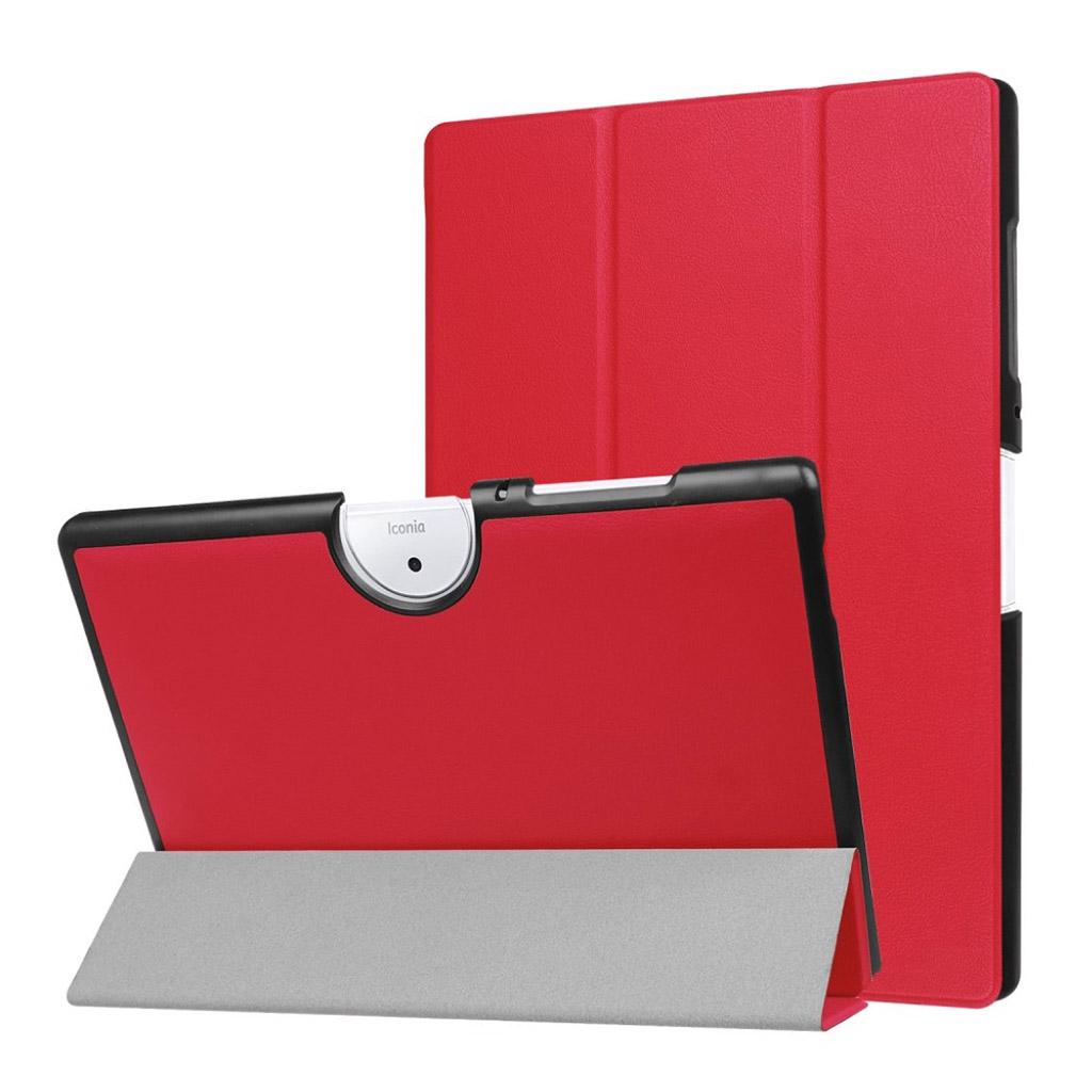 Bilde av Acer Iconia Tab 10 B3-a40 Tri-fold Pu Lær Flip Etui - Rød