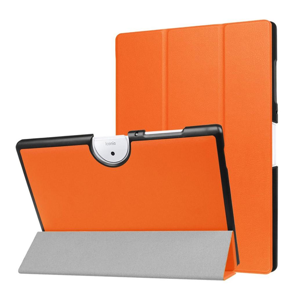 Bilde av Acer Iconia Tab 10 B3-a40 Tri-fold Pu Lær Flip Etui - Orange