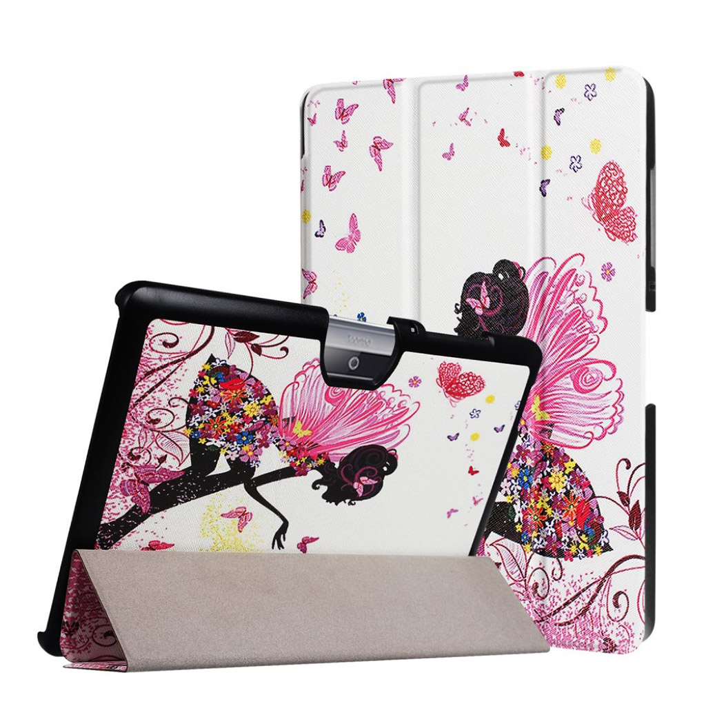 Bilde av Acer Iconia Tab 10 B3-a30 Pattern Tri-fold Pu Leather Flip Case - Flowered Girl With Wings