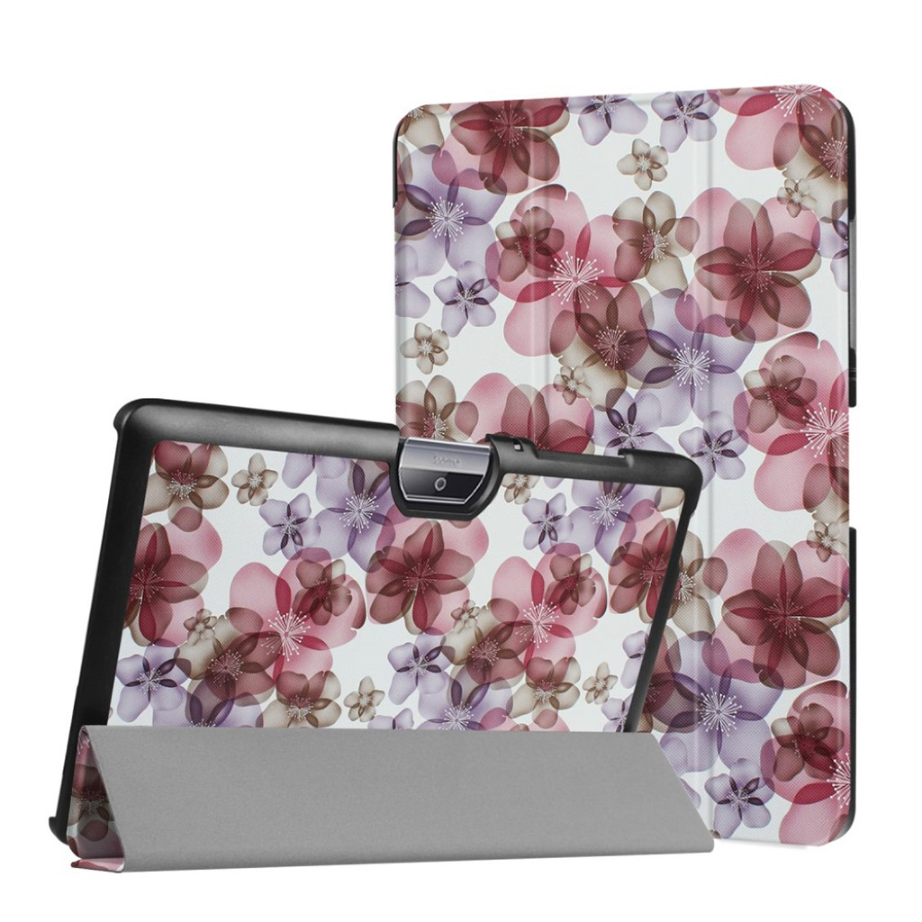 Bilde av Acer Iconia Tab 10 B3-a30 Pattern Tri-fold Pu Leather Flip Case - Beautiful Flowers