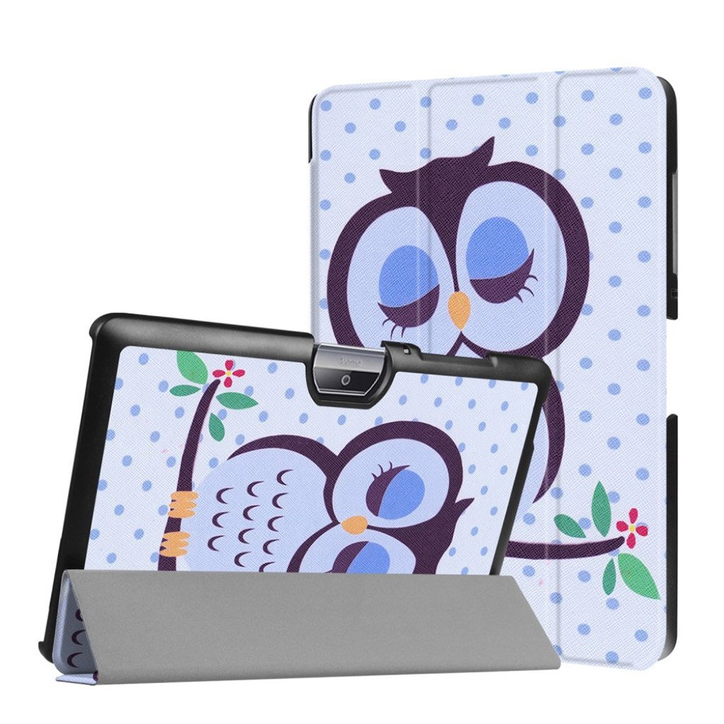 Bilde av Acer Iconia Tab 10 B3-a30 Pattern Tri-fold Pu Leather Flip Case - Owl Napping On Branch