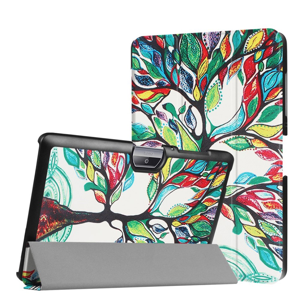 Bilde av Acer Iconia Tab 10 B3-a30 Pattern Tri-fold Pu Leather Flip Case - Colored Tree Painting