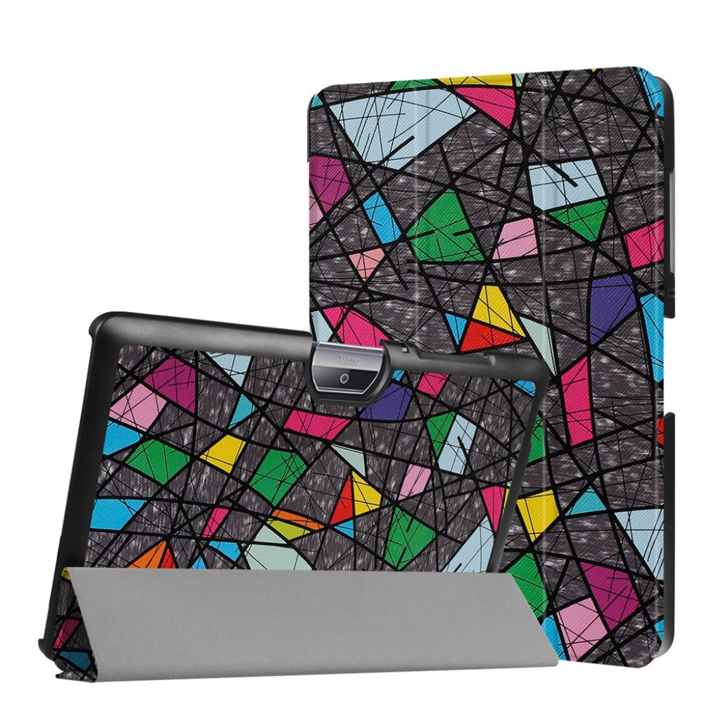 Bilde av Acer Iconia Tab 10 B3-a30 Pattern Tri-fold Pu Leather Flip Case - Geometric Pattern And Lines