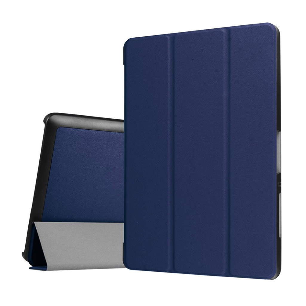 Bilde av Acer Iconia Tab 10 B3-a30 Tri-fold Pu Leather Flip Case - Dark Blue