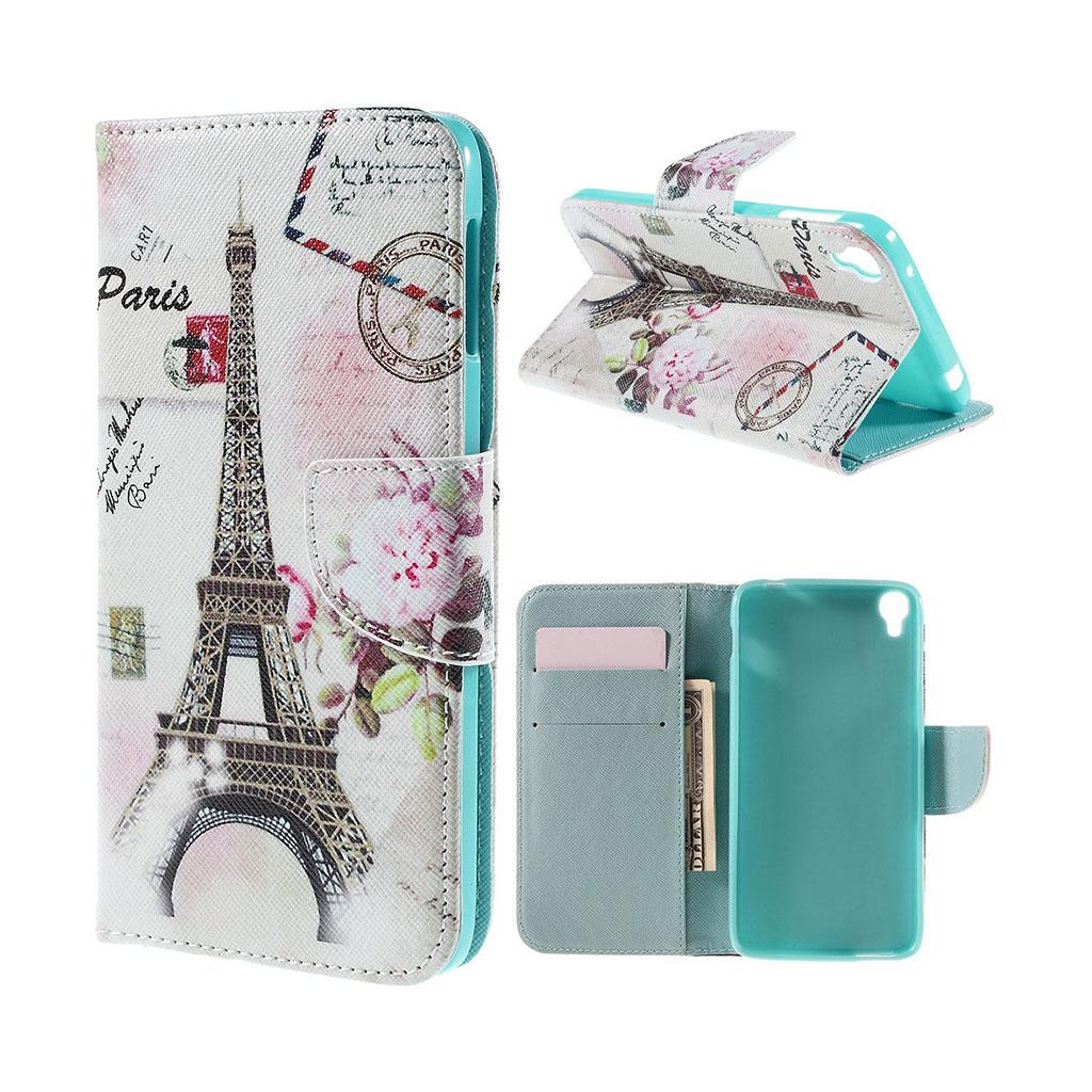 Bilde av Scherfig Etui Av Lær For Alcatel Onetouch Idol 3 - Eiffeltårnet Og Post