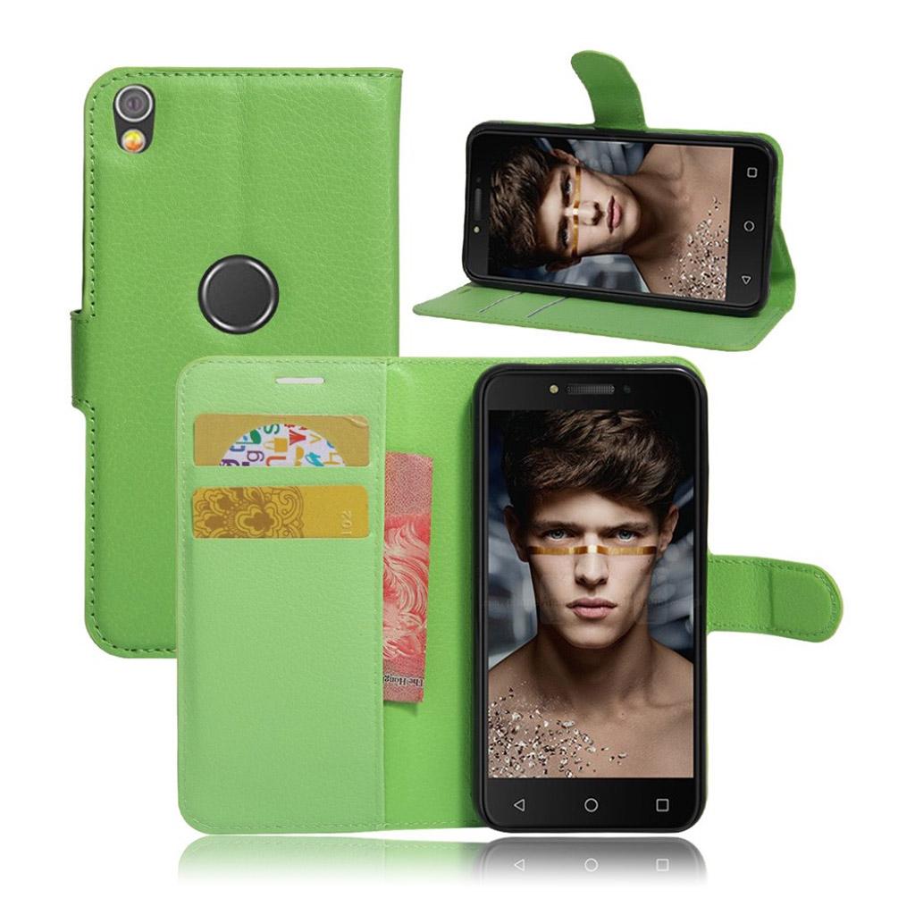 Bilde av Alcatel Shine Lite Lychee Skin Pu Leather Flip Case - Green