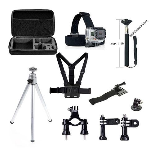 Bilde av 10 i en GoPro tilbehør Set med Bryst Belte, Headstrap og Tripod for GoPro Hero 4/3 + / 3 / 2/1
